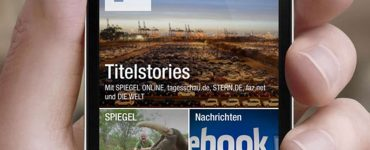 Kacheldesign in der News-App flipboard