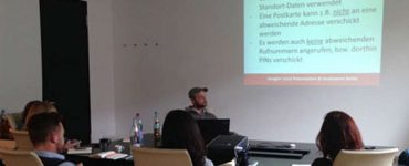 Sebastian Socha beim Google Plus Local Workshop der mediaworx berlin AG