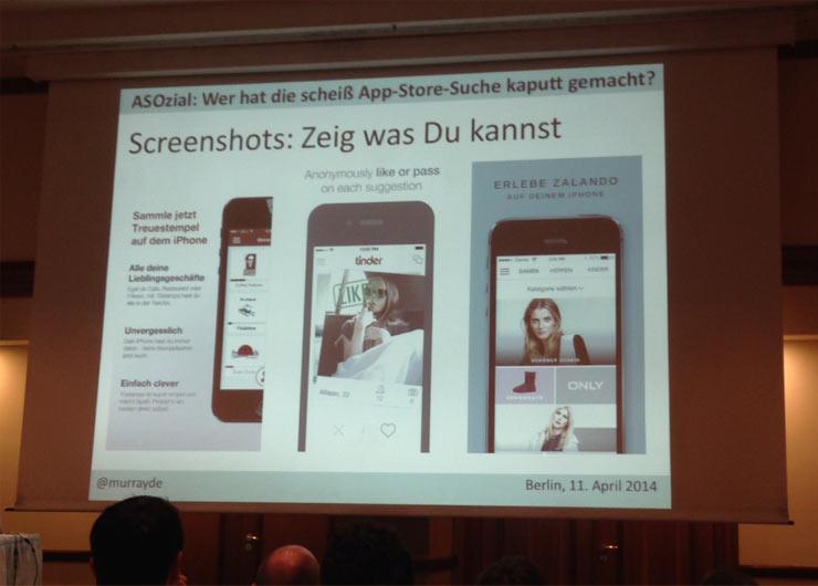 """Mariano Glas (ausserhalb des Bildes) zum Thema """"App Store Optimization"""" (ASO)"""