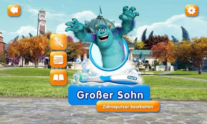 Gamification-App Disney Magic Timer: Profliansicht