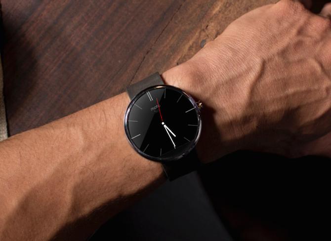 Motorola Moto 360, die Smartwatch mit ansprechendem Aussehen.