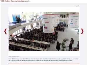 Screenshot der Galeriv von fvw online