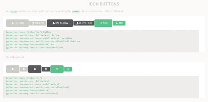 Komponentendarstellung von Buttons