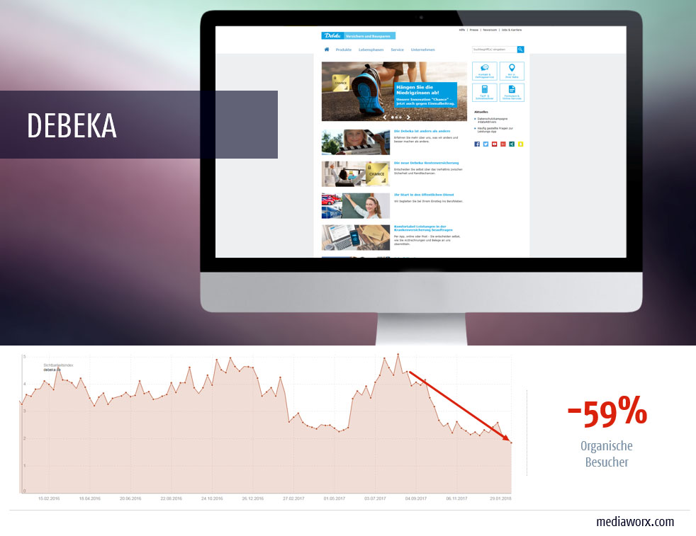 debeka web relaunch 2017